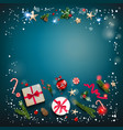 square festive template vector image vector image
