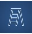 Stepladder line icon vector image vector image