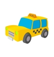 Taxi icon in cartoon style vector image vector image