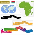 The Gambia map vector image vector image