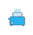 toaster concept colored icon or symbol vector image