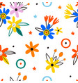 trendy seamless floral pattern in blossom vector image vector image