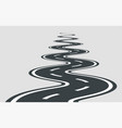 twisted road template isolated on background vector image vector image