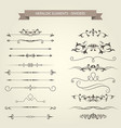 vintage vignettes dividers and separators vector image