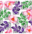 watercolor memphis floral background vector image vector image