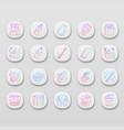 zero waste swaps handmade app icons set vector image vector image