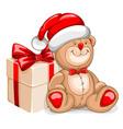Bear christmas vector image