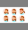 character business people avatar fat vector image
