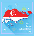 happy independence day singapore banner vector image
