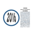 2016 Perspective Rounded Icon with 1000 Bonus vector image