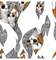 Abstract cats wallpaper vector image vector image