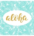 Aloha Summer lettering vector image