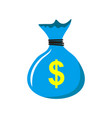 bag money with dollar icon in two color design vector image