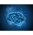 brain concept blue background vector image