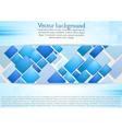 Bright squares design background vector image