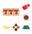 casino and equipment cartoon icons in set vector image vector image
