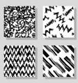 collection monochrome grange seamless textures vector image