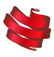 color decoration element swirl ribbon vintage vector image vector image