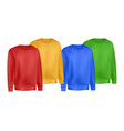 colors mans clothing set sweatshirt and raglan vector image vector image