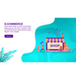 e commerce concept with character template for vector image vector image