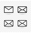 envelope icons vector image vector image