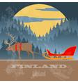 Finland landmarks Retro styled image vector image vector image