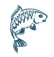 fish abstract silhouette vector image vector image