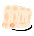 Fist of the person on white vector image vector image