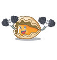 fitness oyster character cartoon style vector image