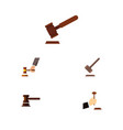 flat icon hammer set of law justice crime and vector image vector image