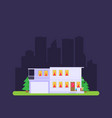 flat residential house vector image vector image