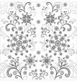flower background contours vector image