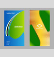 four business card set elements for desig vector image vector image