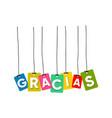 gracias greeting card vector image vector image
