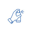 hand with spray line icon concept hand with spray vector image