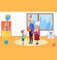 happy family celebrate kids birthday vector image
