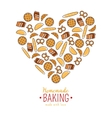 Homemade Baking emblem vector image