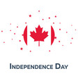 independence day of canada patriotic banner vector image