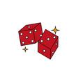 isolated casino dice fill design vector image vector image