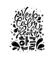 keep calm and learn hangeul vector image vector image