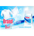 laundry detergent ad white clothes hanging vector image
