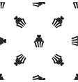 love cupcake pattern seamless black vector image vector image