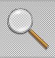 magnifying glass realistic vector image vector image
