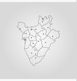 map burundi vector image vector image