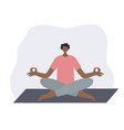 meditating yoga pose people vector image