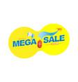 mega sale 50 banner template design loudspeaker vector image vector image