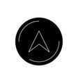 navigation glyph black icon vector image vector image