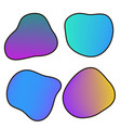 neon shapes vector image