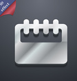 Notepad calendar icon symbol 3D style Trendy vector image
