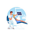 orthodontist office doctor orthodontist examining vector image vector image